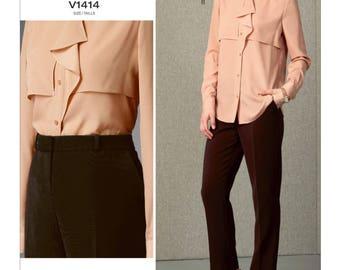 Vogue sewing pattern 1414 Anne Klein designer misses' sizes 16-24 top pants UNCUT OOP