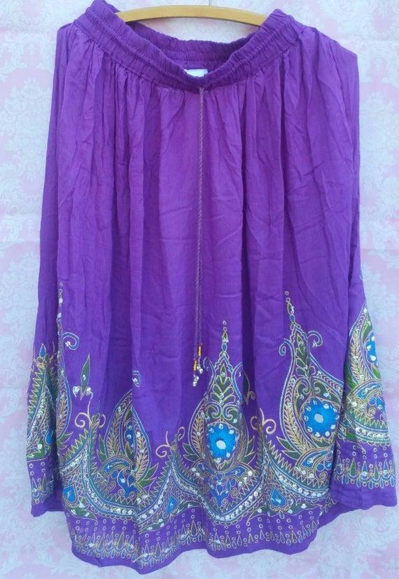 mini hippie skirt, bohemian girls skirt, hippie skirt, gypsy skirt, boho gypsy skirt, midi gypsy skirt, xmas gifts for her, bohemian skirt