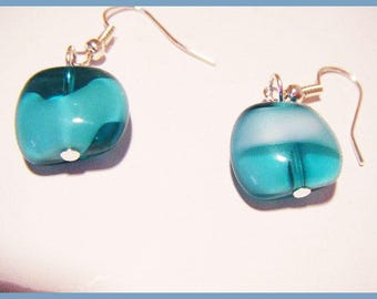 ♥ Earrings green transparent ♥