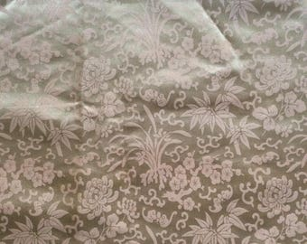 Antique, chinoiserie silk, jacquard fabric