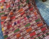 Guatemalan Vintage Fabric, Ikat