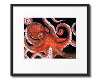 """Giant Pacific Octopus Print (11""""X14"""")"""