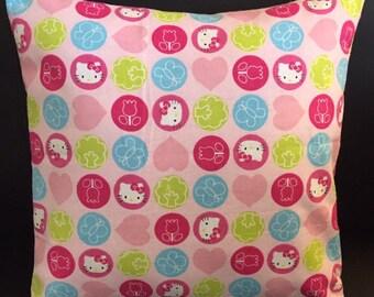 Hello Kitty Pillow Cover | Throw Pillow | Girls l Kitty Throw Pillow | Animal Pillow | Pillow Cover |  Baby Animals Pillow | Throw Pillows