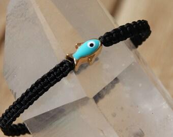 shamballa bracelet with fish beads