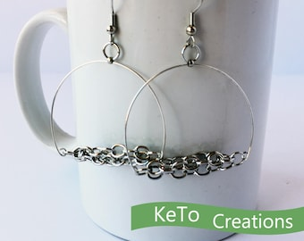 Hoops Galore Earrings, Fun Hand-Crafted Jewelry, Round Earrings