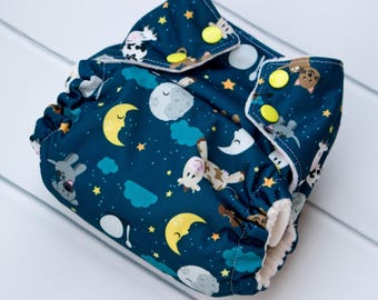One Size Cloth Diaper. Sweet Dreams Cloth Diaper. All in One. All in 2. Diaper Cover and Insert. OS Cloth Diaper. Bamboo Velour.