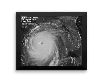 Hurricane Katrina Framed poster Credit: NOAA GOES