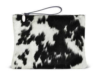 Makeup Bag - Cowhide | Exact Bag You Will Receive