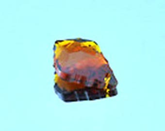2 beads/pendants baroque Crystal 22mm coffee