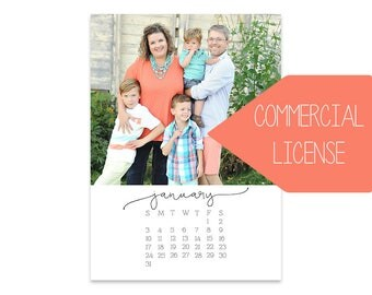 The 2018 Signature Photo Calendar // 5x7  // INCLUDES COMMERCIAL LICENSE