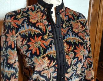Vintage • 70s • Velvet Oriental • Mandarin style Jacket • Patty Woodard • California