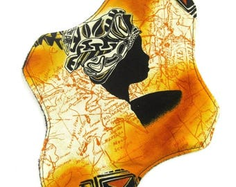 ON SALE Gold Map Cloth Pad, reusable cloth pad
