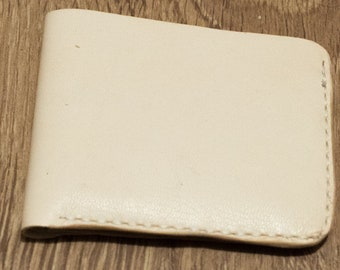 Natural Leather Bifold Wallet