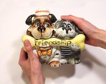 """Ceramic sugar bowl, Handmade bowl for sugar, Porcelain Sugar bowl """"Friendship"""""""