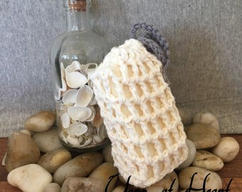 Cotton Soap Savers - mesh soap savers - bathroom decor - scrubbies- loofah soap saver - READY TO SHIP
