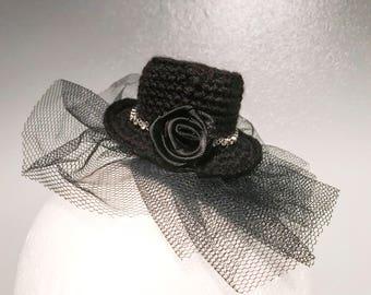 Gothic fascinator goth wedding costume