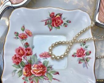 Pretty Rosebud Vintage Royal Albert 'Centennial Rose' Dish