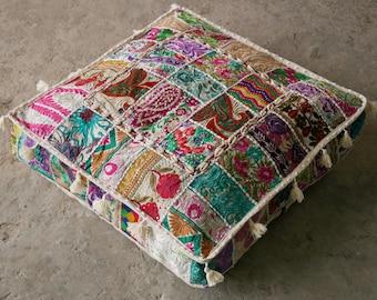bohemian floor cushions decorative cushion cover sari patchwork cushion meditation cushion large