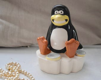 Grinning Penguin on iceberg, Aardman Creations Money Box