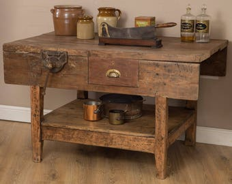 Vintage Workbench/ Kitchen console Garden Table free delivery