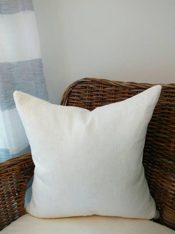 Off-white linen pillow off-white pillow linen pillow