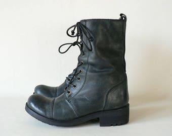 Women Leather Combat Boot 7