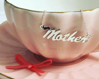 Mother Necklace - Sterling Silver