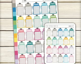 I008 | Hydrate Bottles [Planner Stickers 25MB / 20MS]