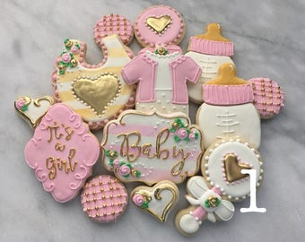 TWO DOZEN Baby Shower Cookies