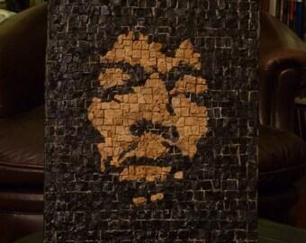 mosaique  portrait Jimi Hendrix