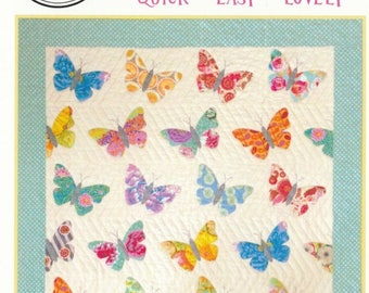 SALE** Butterflies - Wall Hanging or Lap Quilt Pattern - Black Mountain Needleworks
