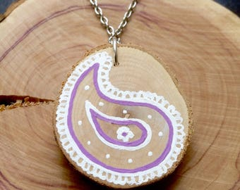 Purple Paisley Pendant