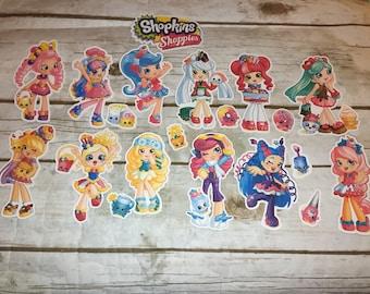 Shopkin Shoppies  Die Cuts/Party Decor Shopkin Shoppies Paper Cut Outs