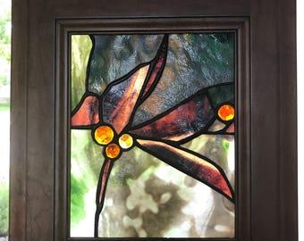 Art Glass Framed Panel