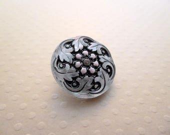 Datura Czech glass button pink 22 mm - BCZ22 1382