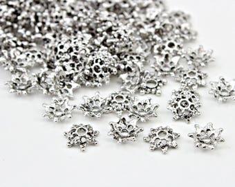 Silver Petal Bead