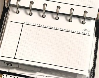 Monthly Tracker Planner Inserts | Pocket Size Planner