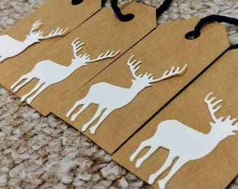 4 Stag Gift Tags