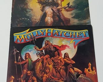 Lot of 2 Molly Hatchet Vintage Vinyl Records Flirtin With Disaster Take No Prisoners