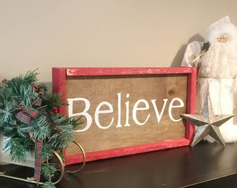 Belive Christmas in July Farmhouse Decor Modern Decor Sale