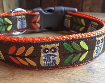 AUTUMN OWL JACQUARD Dog Collar