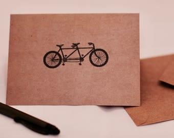 Tandem Bike Blank Greeting Card