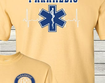 Monogrammed Paramedic Nurse Student Life Shirt Customized Personalized Medic