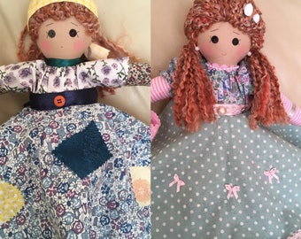 rags to riches rag doll, traditional rag doll, upside down doll, double ended doll, topsy-turvy doll, classic rag doll,