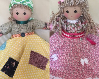 nursery decor doll, home decor doll, upside down doll, topsy turvy doll, double ended doll, collectible doll, pretty rag doll