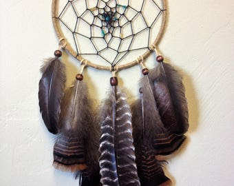 Turquoise and Gold Nursery Dream Catcher