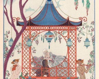 lovers holiday Galantes George Barbier fully lined
