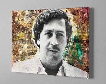 Pablo Escobar Canvas (Narcos canvas print, Pablo escobar canvas print, Pablo escobar art, plata o plomo, narcos art, Escobar Poster)