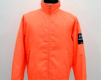 Vintage 90's Helly Hansen Sea Life Jacket Nylon size M/L neon orange sea gear sailing outdoor