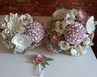 Large mixed paper bouquet